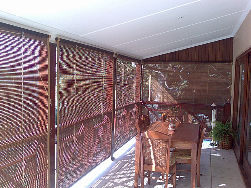 Laguna Bamboo Blinds Inside look