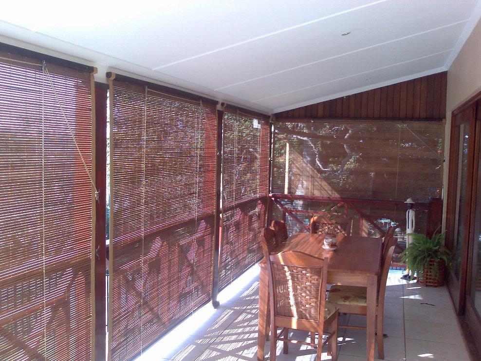 Laguna Bamboo Blinds Inside look