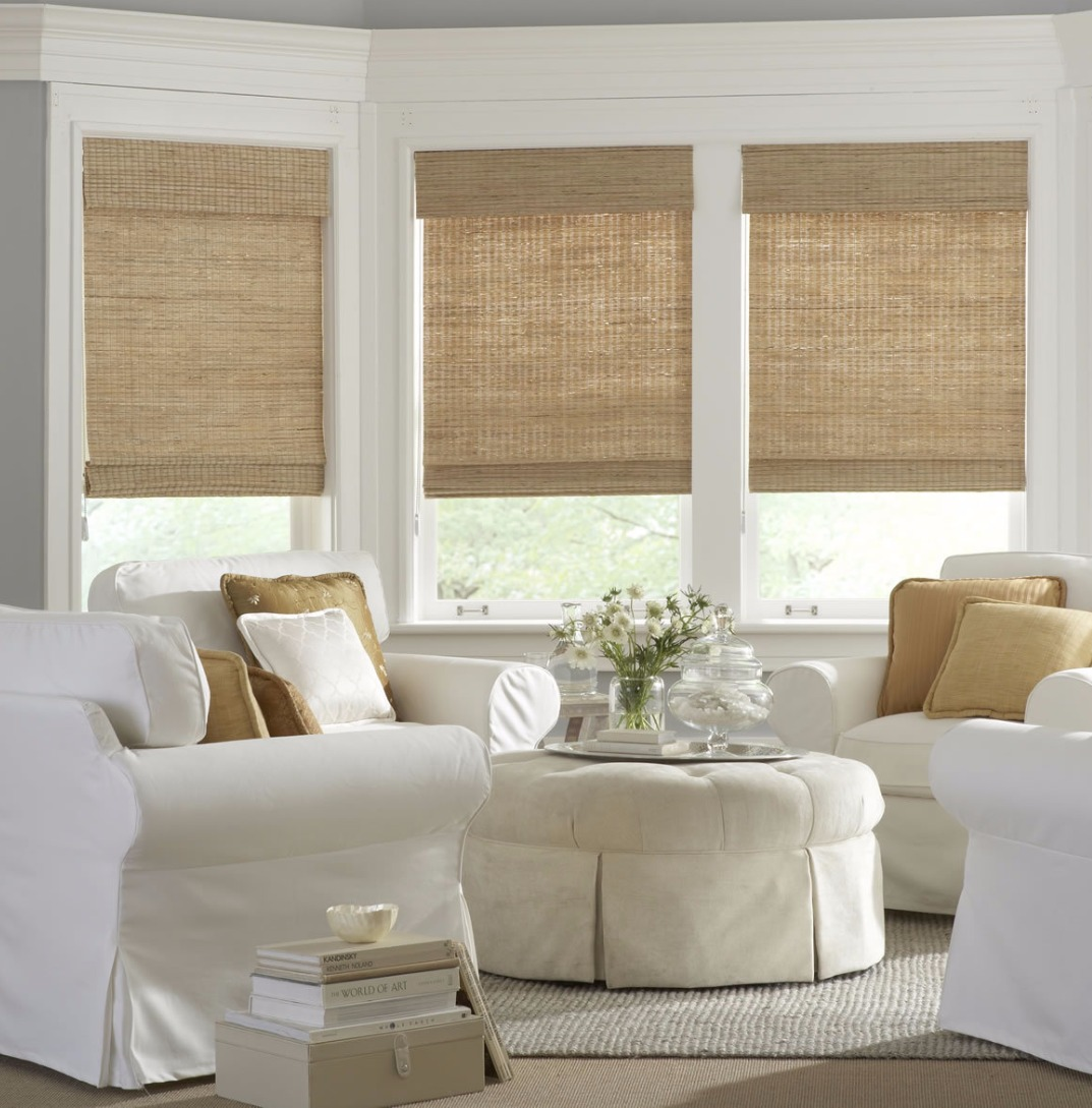 Bamboo Woven Roll up blinds