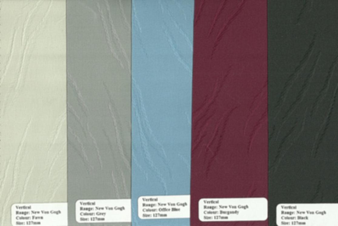 Vertical Blinds Range: New Von Gogh colour samples