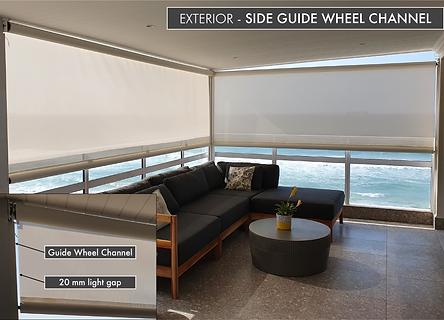 Side Guide Wheel Channel Exterior Roller Blinds