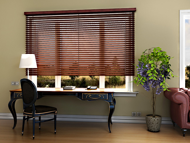 Bass Wood Venetian Blind