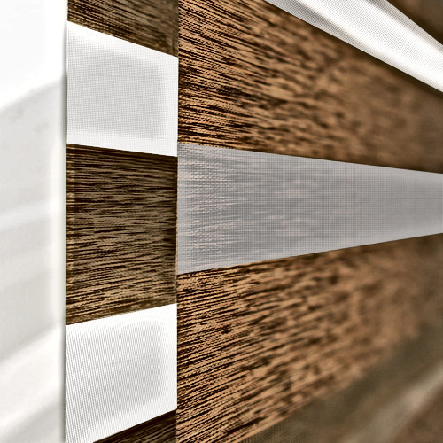 Zebra Roller Blind showing two layers of