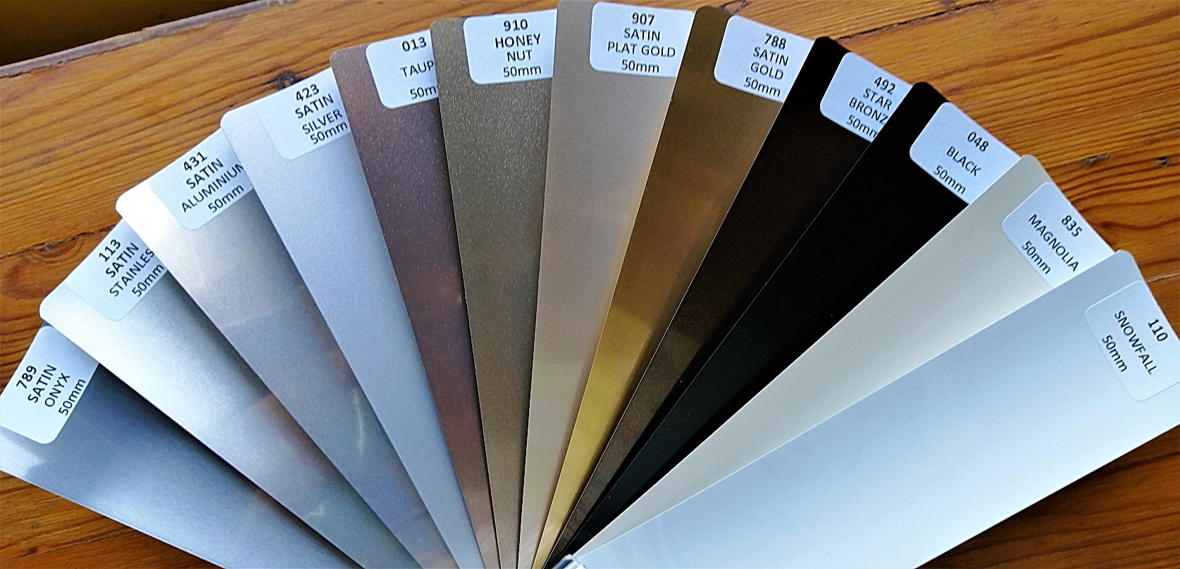 50 mm Aluminium Venetians - plain colour
