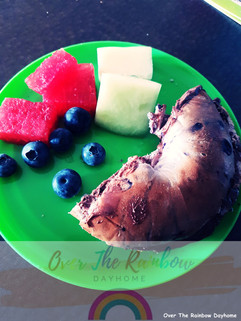 Blueberry Bagel with Nutella