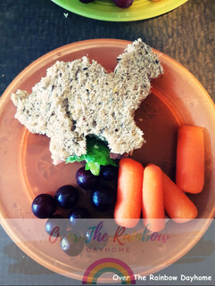 Dino Ham and Cheese Sandwhich