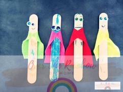 Popsicle Stick Superheroes