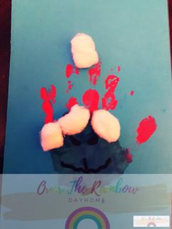 Grinch Day Handprint Craft