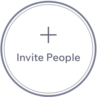Circular icon with an addition sign reading 'Invite People'.