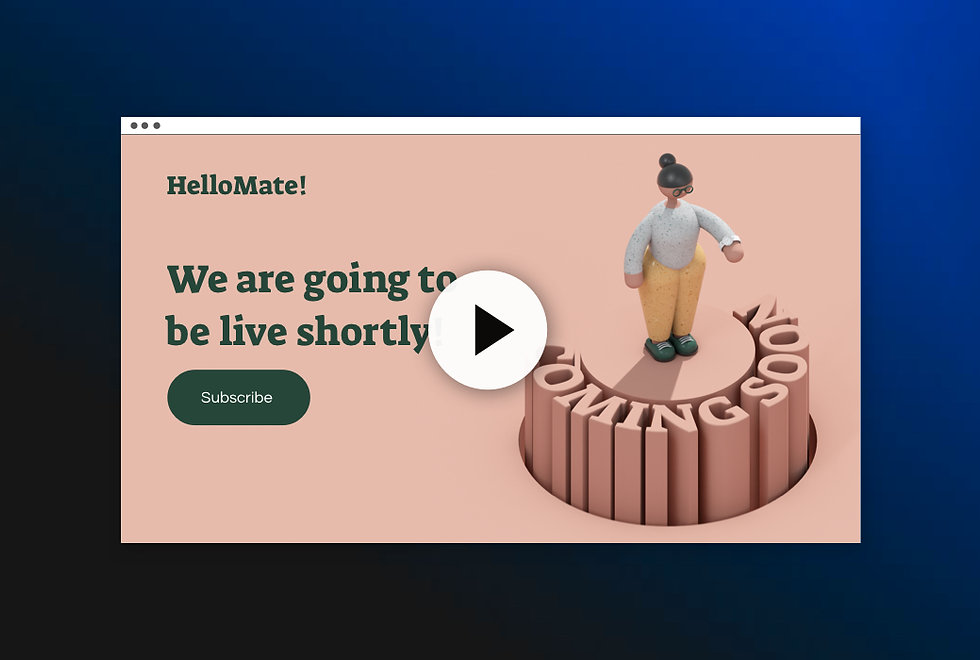 Image showing thumbnail for site. With text on the left side and a button for 'subscribing' on the right is an animated person with text scrolling round them.