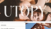 Website thumbnail for haircare company. Image of two women lying horizontally beside each other, one woman rests her head on the others shoulder cover the homepage.