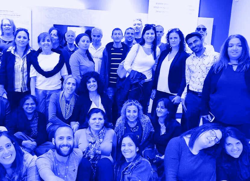 קבוצת תלמידים של אוניברסיטה בעם בסיור בבנק ישראל בבאר-שבע