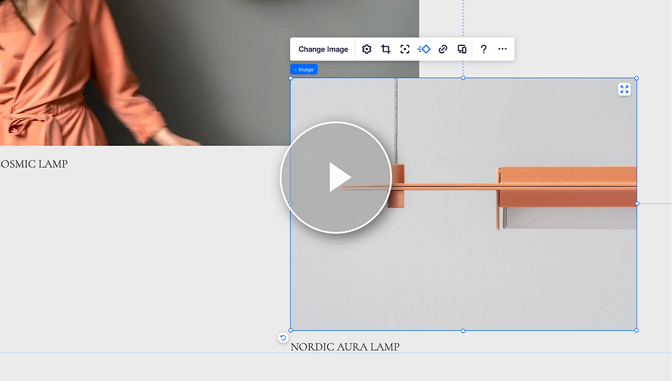Video about how to apply and customize hover interactions on Editor X.