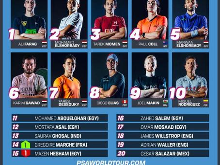 PSA World Rankings (June 2021)