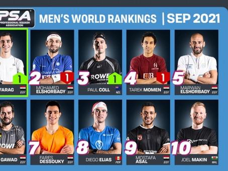 PSA World Rankings (September 2021)
