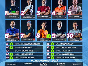 Latest PSA Men's World Rankings (Jan 2021)