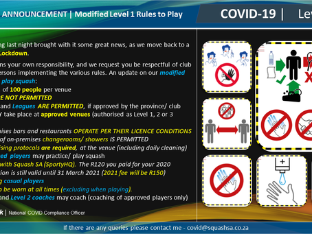 CV-19: Level 1 Updates to Rules of Play