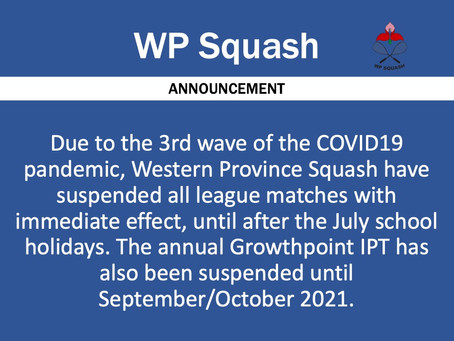 ANNOUNCEMENT: COVID19 (09 June 2021)