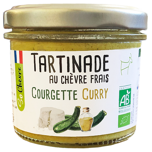 Tartinable au chèvre courgette curry