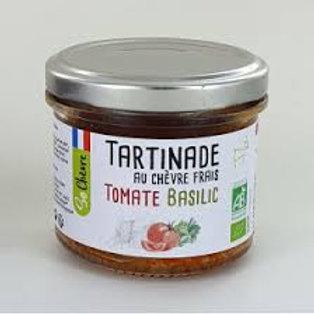 Tartinade au chèvre frais tomate basilic