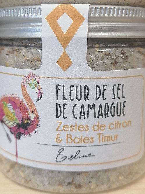 Fleur de sel de camargue zestes de citron et baies Timur