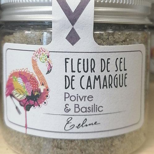 Fleur de sel de camargue poivre et basilic