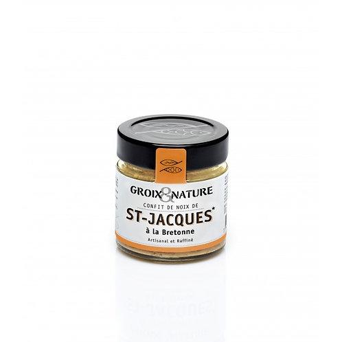 CONFIT DE NOIX DE ST JACQUES À LA BRETONNE