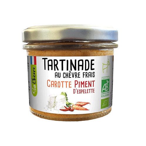 Tartinade au chèvre frais carottes piment d'Espelette