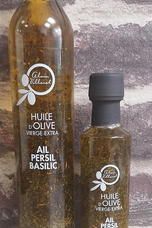 Huile d olive ail, persil et basilic 250 ml