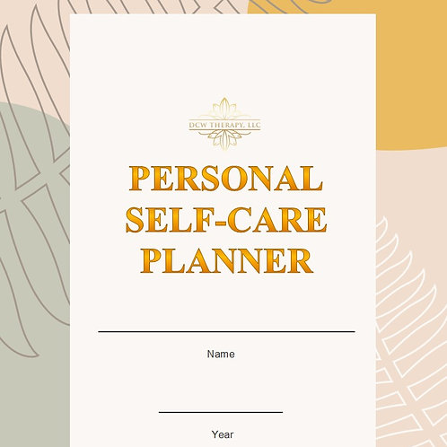 DCWTherapy Self-Care Planner