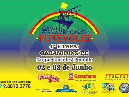 Parque Euclides Dourado sedia Etapa do Circuito Pernambucano de Futevôlei