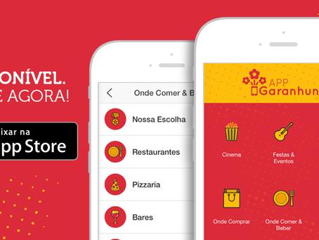 Sensacional. O App Garanhuns está disponível na App Store para iPhones e iPads