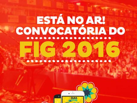 Secult e FUNDARPE lançam convocatória pro FIG 2016