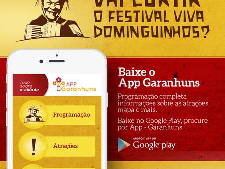 Aplicativo está atualizado e conta com a programação do Viva Dominguinhos