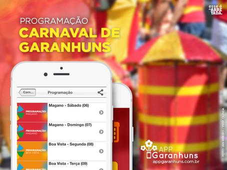 """Programação do """"Carnaval de Garanhuns 2016"""" já está disponível no app"""