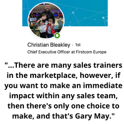 There are many sales trainers in the mar