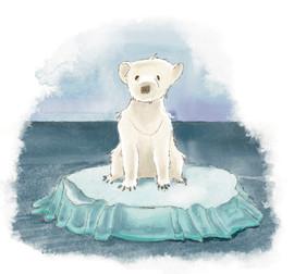 Kinderbuchillustration Eisbär