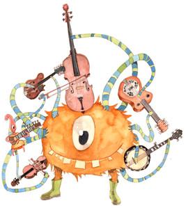Kinderbuchillustration Monster Bluegrass