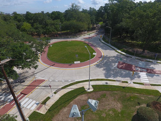 Roundabout at Girard Park and Hospital Road