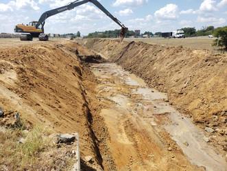 Commercial Park Road Drainage Improvement - Complete
