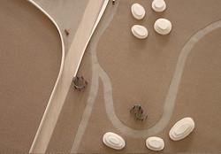landscape model aerial view