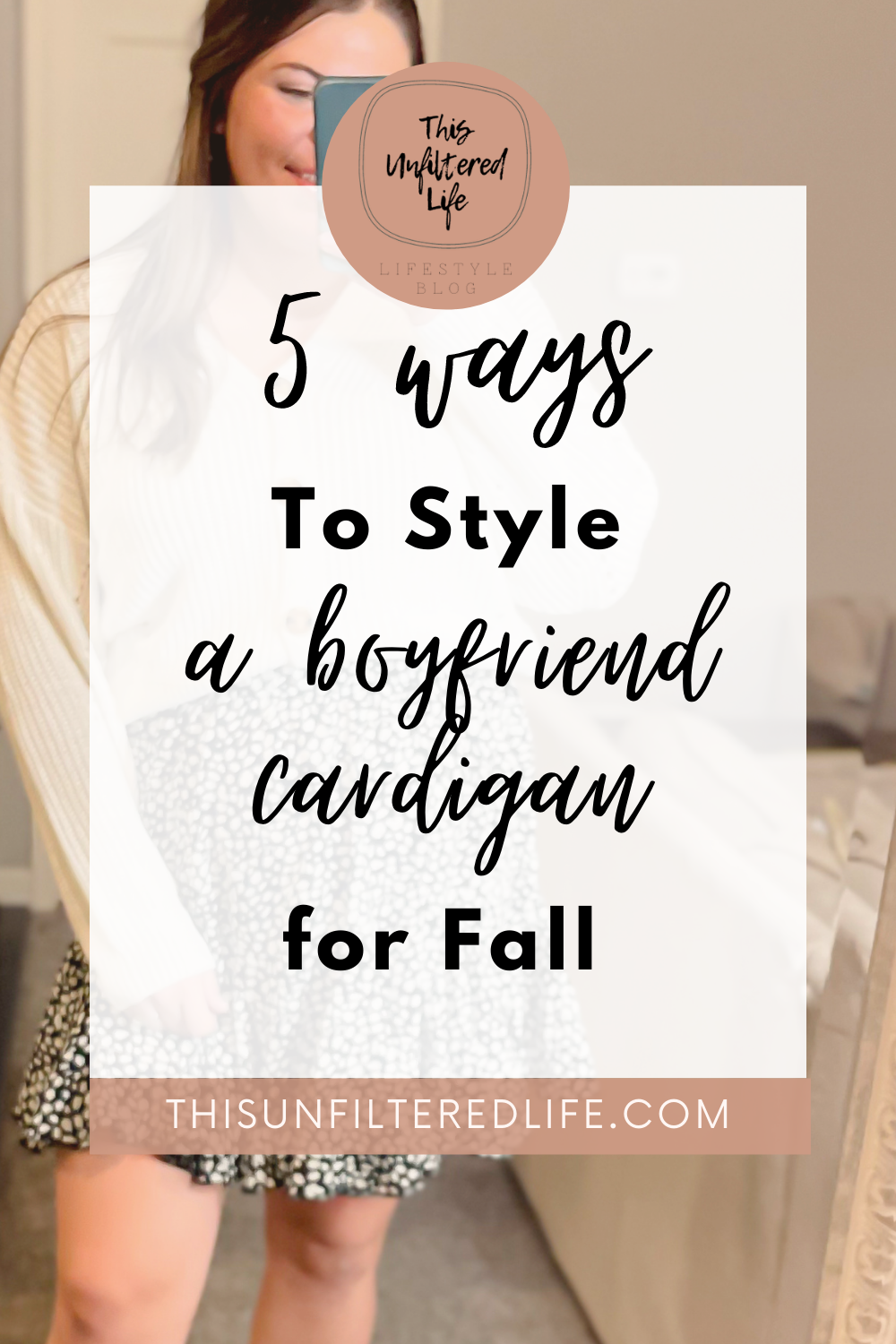How do you style a boyfriend Cardigan five ways for fall