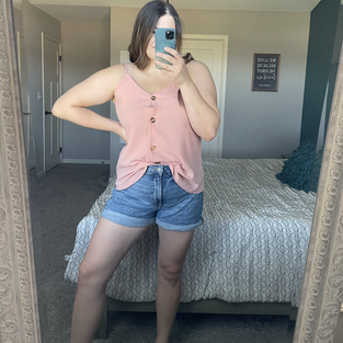 BLENCOT Women Cute Sleeveless Shirts Blouses Button Up V Neck Spaghetti Strap Fashion Cami Tank Top Pink