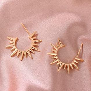 VACRONA Gold Cuff Earrings Huggie Earrin
