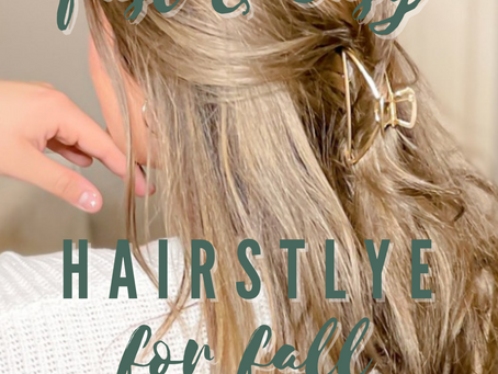 Super Fast and Easy Hair Style for Fall