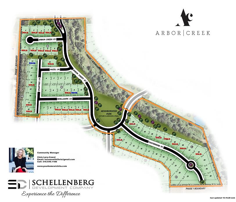 Arbor Creek Map for Marketing on Website