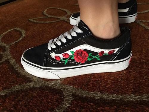 vans con le rose old skool