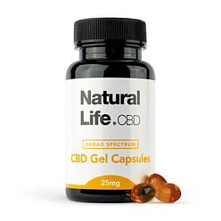 Natural Life CBD Gel Capsules 25mg_With