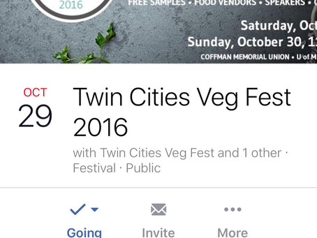 Come visit us at the Twin Cities Veg Fest…