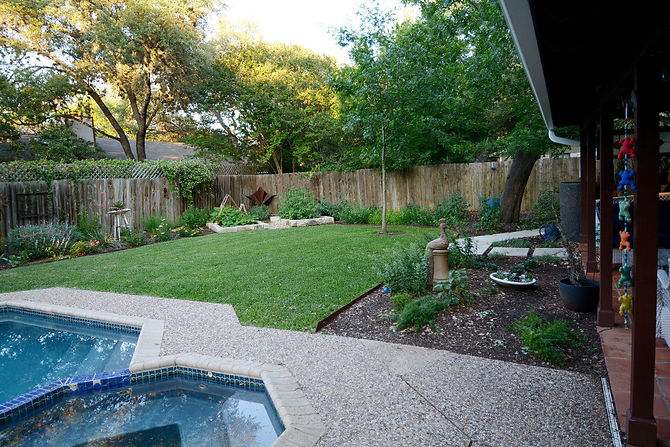 This home gardener had a long list of plants she wanted to incorporate into her new landscape. They came to us to put together a plan that worked around their needs for patio space, walkways, veggie gardens, grass for the dogs and gardens. We came up with this fun design that meshed her long plant list with a few extra fun details!